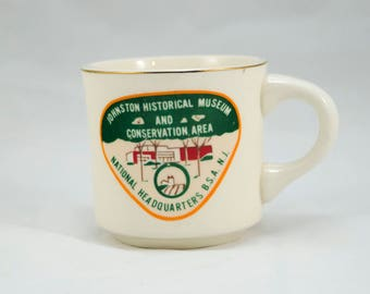 Vintage 1970s Boy Scout Mug, Johnston Historical Museum and Conservation Area, Tea Mug, Coffee Mug, Vintage Coffee, Vintage Tea, BSA
