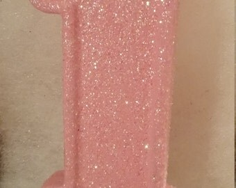 Light Pink 1st Birthday Candle
