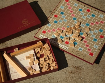 Scrabble Game, Family Game Night, Vintage Game, Games, Kid's Room, Wooden Tiles, Scrabble Tiles, Crafts, Wood Tiles, Letters,