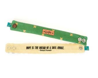 Inspirational Bracelet, Blessing Band™, Secret Message Bracelet, Hope Bracelet, metal plate bracelet, Quote Bracelet, Inspirational Cuff