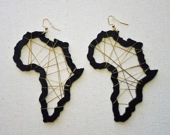 Nchi Wire Wrapped Africa Earrings