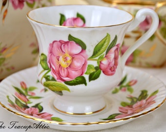 Royal Standard Teacup and Saucer pink floral