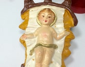Vintage Nativity Creche Baby Jesus Made in Italy Bisque Baby Jesus