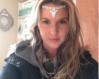 Bridal Head Chain, Bridal Hair Jewelry, Hair crystals, Sparkling her piece, Prom hair, Wedding Headpieces