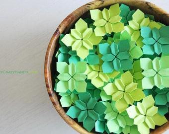 100 YOUR choice wedding petals | table decorations ||| | wedding flowers ||| | origami flowers || paper flowers || paper petals