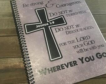 Mens Prayer Journal - Bible Journaling - Journal - Christian gift - Scripture Journal - Bible Study - Teen Prayer Journal - *Grey Pictured*