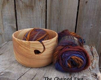 Yarn Bowl, Hand Turned Wooden Knitting Holder