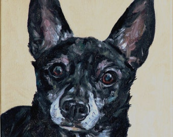 CUSTOM Pet Portrait Oil Painting commissioned Pet Memorial Birthday gift 10x10