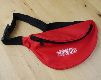 Vintage Bright Red Heart of Brevard NC Fanny Pack