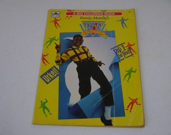 Urkel Family Matters No Sweat My Pet! Golden Coloring book 1992