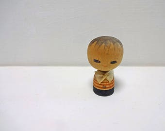 2.1in Vintage Japanese Miniature Wood KOKESHI Doll