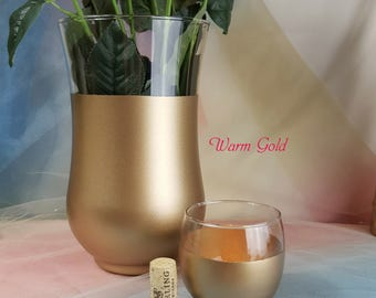Glass Wedding Hurricane Vases or Candle Holders // Table Decorations , Weddings, Events, Centerpiece, Unity Candle, Bouquet Holder