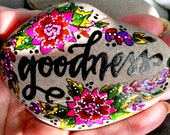 for goodness sake  / painted rocks / painted stones  / words in stone / affirmations on rocks / paperweights / rock art / hand painted rocks