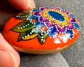 bohemian nugget / painted rocks / painted stones / small paintings / tiny art / boho art / hippie art / sea stones / hand held art / rocks