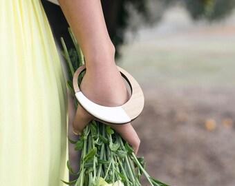 Single bangle - Statement bracelet - eco friendly jewelry - statement bracelet - statement jewelry - wooden bracelet - bangle bracelets