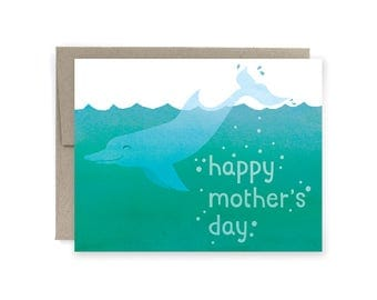 SALE: Mother's day Dolphin Greeting Card