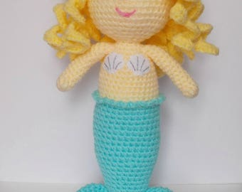 Coral the mermaid, little mermaid, doll, crochet toy, stuffed toy