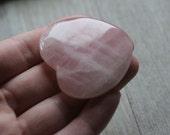 Rose Quartz Large Flat Heart #80304
