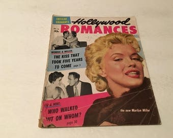 1956 dell hollywood romance magazine marilyn monroe