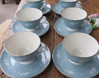 Royal Doulton 'Reflection' vintage china tea cup and saucer set