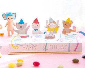 Cartoon Birthday Cards Cute Cards Fold Card