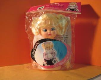 "Fibre Craft Blond Air Freshener Doll  5 3/4"" High plus pattern 3309-99F"