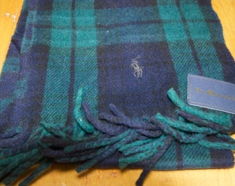 Authentic Ralph Lauren Polo Wool Blend Scarf with  Original Tags