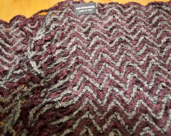 Saks Fifth Avenue Knit Chevron Scarf Made In Italy