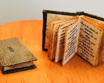 Miniature Witch book Book of Spells 12th scale