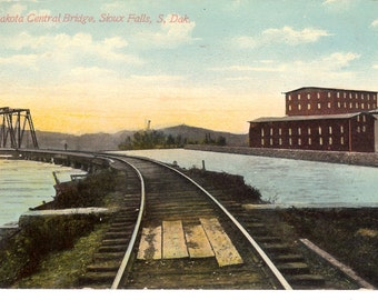 Vintage Postcard....South Dakota, Sioux Falls, South Dakota Central Bridge..Used, 1911..no. SD0004