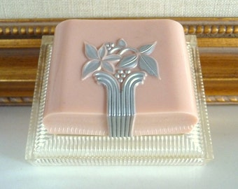 Vintage Pink Art Deco Ring Box Celluloid Ring Box Lucite Plastic Vintage Ring Box from TreasuresOfGrace