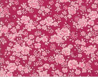 Regent Street Lawn 2016 by Moda - Floral Claremont - Claret - 1/2 Yard Cotton Lawn Fabric 117