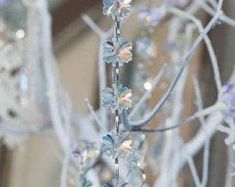 Crystal Snowflake Garland Chain Strands 6ft