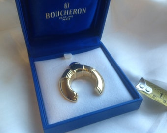 Vintage Boucheron France Paris brooch in box