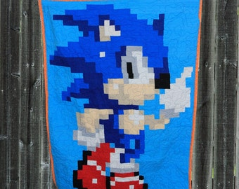 Sonic the Hedgehog - crib quilt pattern