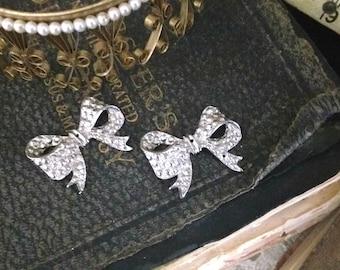 Vintage Bow Brooch Findings (2)