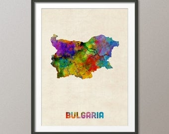 Bulgaria Watercolor Map, Art Print (2501)