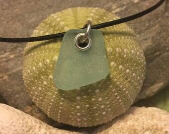 Sea glass jewelry- Sea foam green sea glass set with sterling silver.