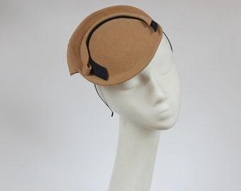 Round Felt Mini Hat Hat,Fascinator,Derby Hat