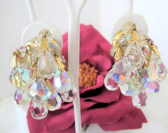 Crystal Earrings - Cha Cha Style - Dangle Faceted Beads