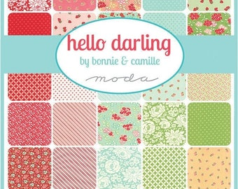 20% Off Sale Hello Darling Charm Pack by Bonnie and Camille for Moda - One Charm Pack - 55110PP