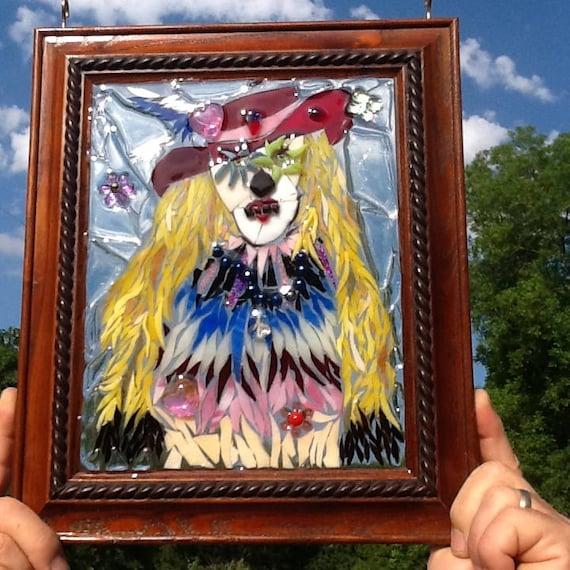 Stained Glass Sugar Skull Window Art Sun Catcher - My ...