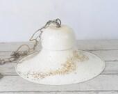 Vintage Cream Color Metal Pendant Light Fixture
