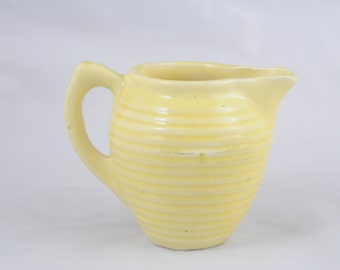 Vintage Yellow Pitcher Kitchenware Yellow Cream Pitcher