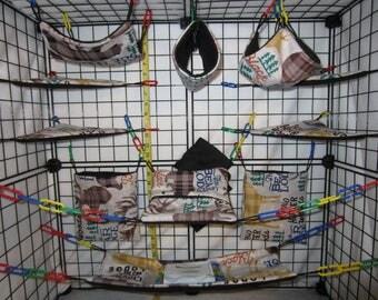 17  Pc  -  Woodsman - Sugar Glider Cage Set