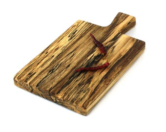 "Rustic Cheese Board - Spalted Silver Maple - Ready to Ship - 12-1/2""x7""x1"""