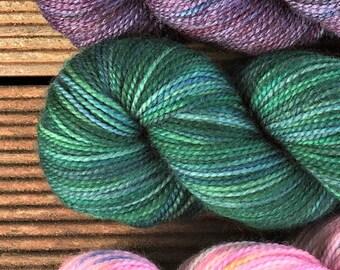 Christmas Beetle hand dyed Australian 4ply sock yarn