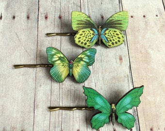 Green Butterfly Hair Accessory Greenery Woodland Fashion Goddess Fairies Fairy