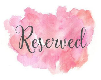 Reserved listing for A. Reynolds