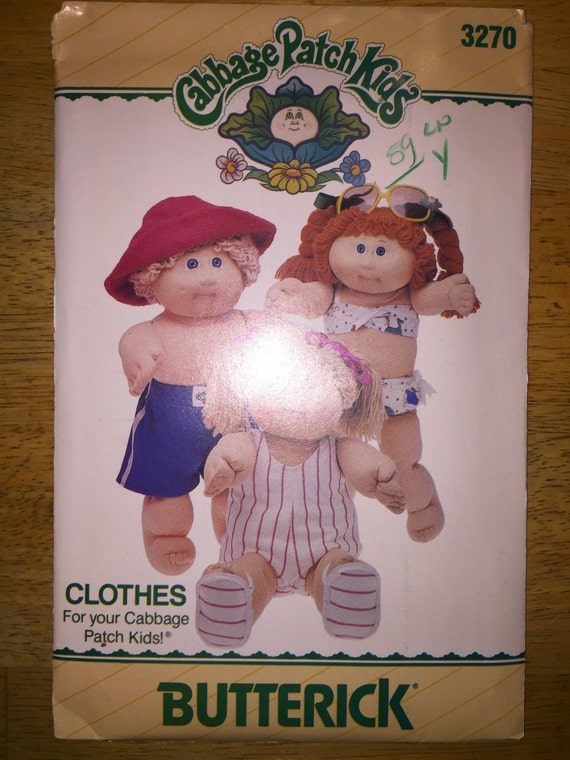 Butterick Sewing Pattern 3270 Cabbage Patch Kids Doll Clothes Swimwear Outfit